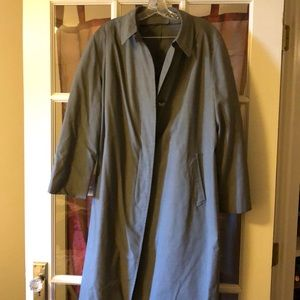 London Fog Vintage Herringbone Rain Coat